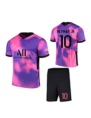 SHDBHD Temporada 2020/21 Paris Camiseta de Fútbol,10#Neymar Uniformes de Fútbol para Adultos y Niños Camiseta Corta Pantalones Cortos Calcetines