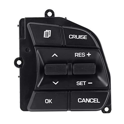 SHENG Coche Derecho Lado Volante Control De Crucero Interruptor De Botón Ajuste para Hyundai Sonata 9 LF (Color : Black)