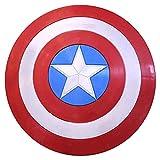 Capitán América Escudo Accesorios de disfraces de superhéroe de Halloween Accesorios de cosplay Bar Decoraciones para colgar en la pared Hecho de plástico ABS Regalos de 22 pulgadas para niños