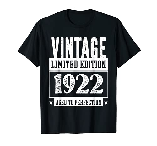Vintage 1922 Limited Edition Maglietta 99 Anni Compleanno Maglietta