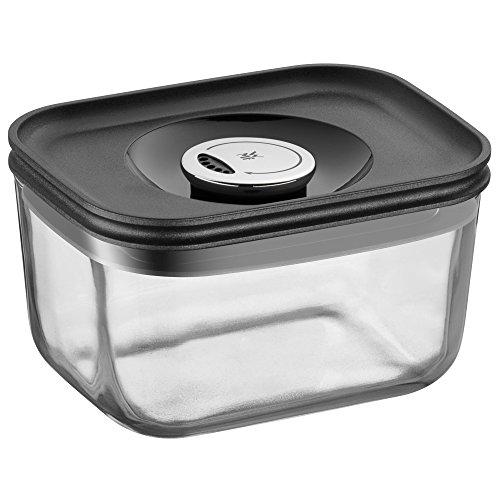 WMF Depot Fresh Vorratsdose, 13 x 10 cm, rechteckig, Glas, Vorratsglas, luftdichter Aroma-Deckel, Frische-Ventil, Frischhaltedose zum Vorbereiten, Aufbewahren und Servieren