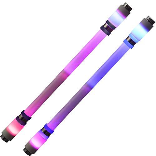 2 Bolígrafos Giratorios Bolígrafo Rotatorio de Dedo Rodante LED Bolígrafo Giratorio con Revestimiento Antideslizante para Entretenimiento ce Estudiantes (sin Recarga de Bolígrafos)