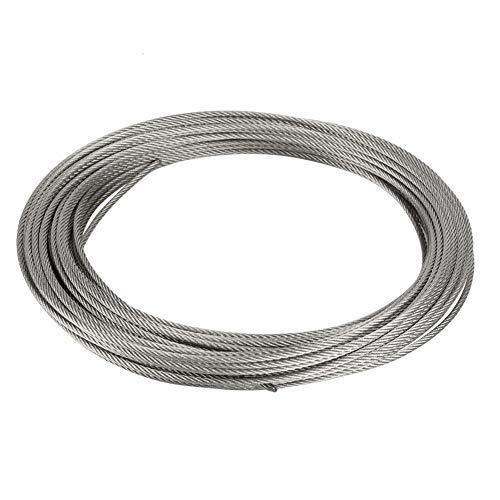 Broco 1pc 20m Cable de acero inoxidable 304 cuerda de alambre de acero duro de alambre de 2,5 mm de elevación Pesca