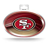NFL San Francisco 49ers Metallic Team Logo Sticker