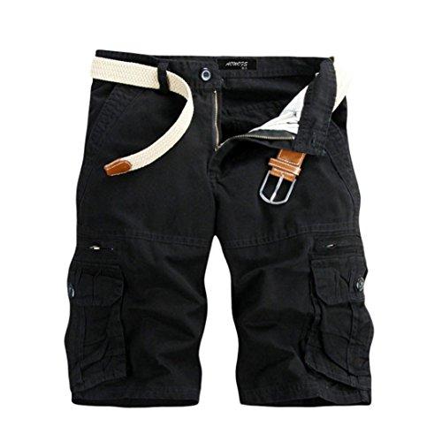 OSYARD Herren body bluse plain shorts schwarz die