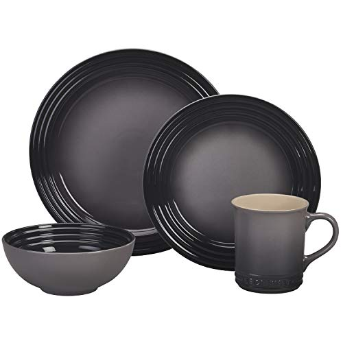 Le Creuset Stoneware Dinnerware Set, 16 pc., Oyster