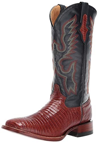 Ferrini Women's Teju Lizard Western Boot, Peanut, 8 B US