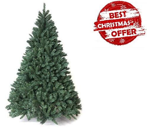 Megashopitalia Albero di Natale Pino 150 180 210 230 270 CM Super FOLTO Realistico Verde Natale
