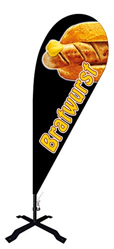 Beachflag Bratwurst -ca. 240 cm hoch- BMF031-K