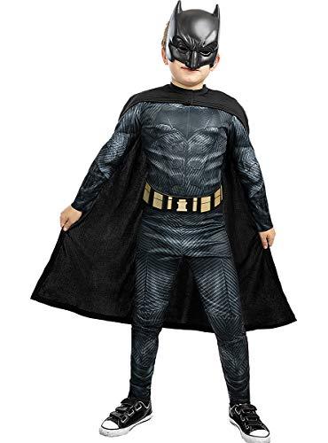 Funidelia | Disfraz de Batman - La Liga de la Justicia Oficial para niño Talla 10-12 años ▶ Caballero Oscuro, Superhéroes, DC Comics, Hombre Murciélago - Color: Negro - Licencia: 100% Oficial