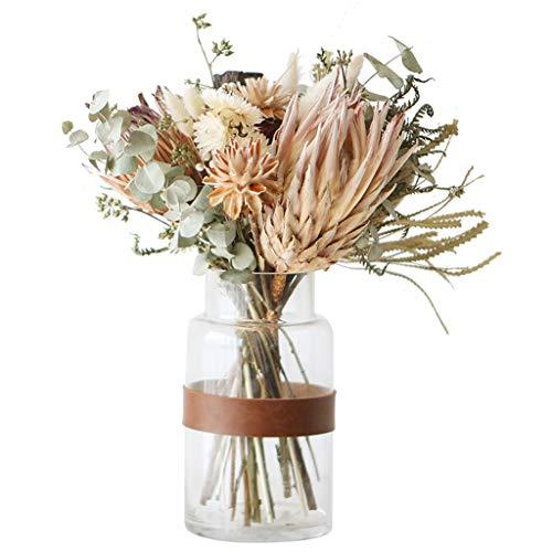 WXIANG Flores Artificiales Las Nuevas Flores Hechas A Mano Flores Flores Plantas con Flower Botella Flores Eternas Flor Vida Real Fiesta Decoración del Hogar (Color : A)