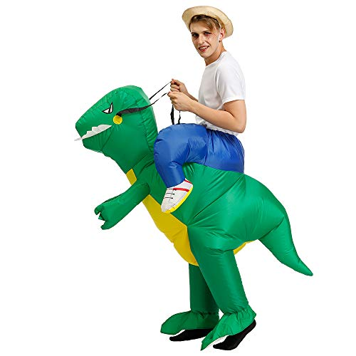 Aufblasbares Kostüm Carry-me Huckepack Dinosaurier Cosplay für Fasching Erwachsene