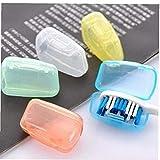 AMOYER 5 Piezas, Accesorios de baño Set Cepillo de Dientes de Viaje portátil Cubierta de Cepillo de Lavar Cap Caja de la Caja Caliente