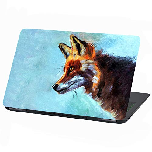 Laptop Folie Cover: Stranger Things Klebefolie Notebook Aufkleber Schutzhülle selbstklebend Vinyl Skin Sticker (17 Zoll, LP35 Beautiful Fox)
