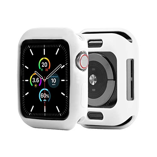 ONMROAD Bumper Protector Compatible with iwatch Case 38mm Soft TPU Flexible Shockproof Cover for Apple Watch Series 3 2 1 White
