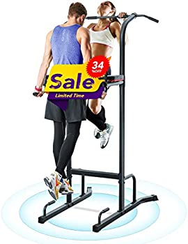 MaxKare Power Tower Workout Dip Stand Pull Up Bar Station