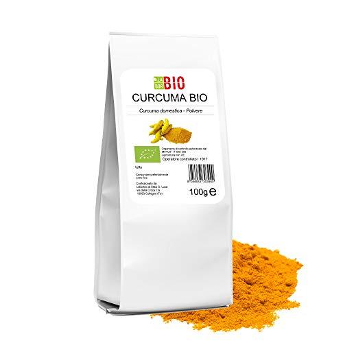 Curcuma in polvere Bio macinata fine 100% Naturale Vegan Gluten free - Cucina salutare Tisane - 100 g LaborBio