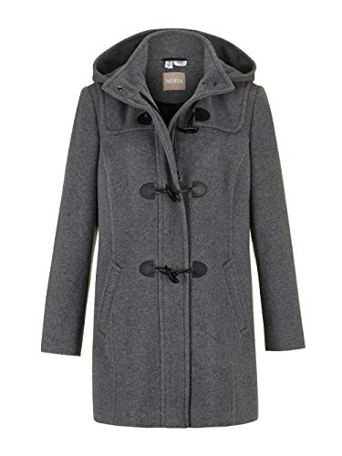 MONA Dufflecoat mit Kapuze Grau