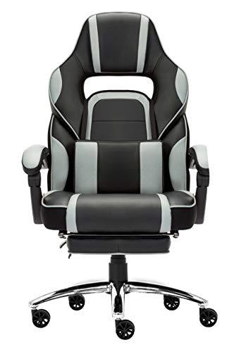 IntimaTe WM Heart Racing Chaise de Bureau Ergonomique, Fauteuil pour Ordinateur, Siège Baquet avec Repose-Pied Pliable, Assise Rembourée