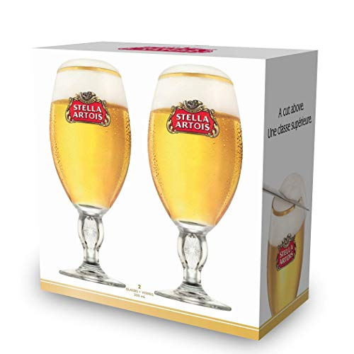 Stella Artois Chalice - 2-Pack Gift Set - Official Product - 33 Cl / 11.2 Oz. Capacity Beer Glasses