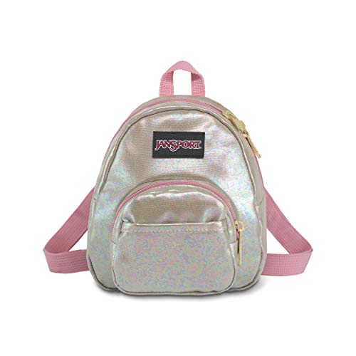 JanSport Quarter Pint FX Mini Backpack - Convertible Lightweight Daypack, Pearlized Shine