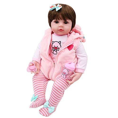 XINGYUE Muñeca de silicona realista de 19 pulgadas, muñecas realistas renacidas de vinilo suave de silicona recién nacidos, niñas, princesa, juguete hecho a mano para niños