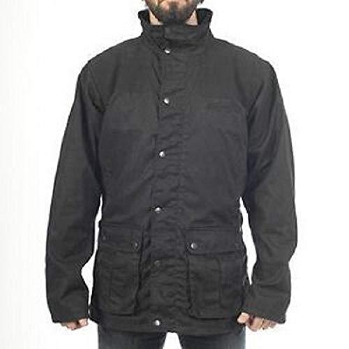 Zerimar KENROD Chaqueta para caballero en poliéster y algodón Color negro Talla L