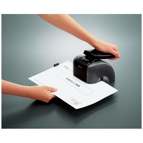 Kokuyo Japanese S&T Stapleless Stapler 2 Hole Type Black SLN-MSP110D by Kokuyo - 5