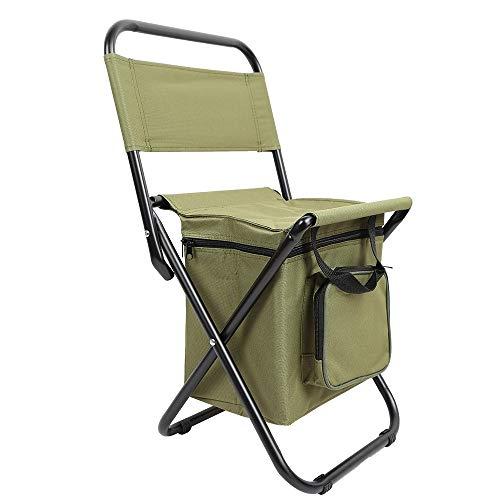 qidongshimaohuacegongqiyouxiangongsi angelausrüstung Sitz Picknick Wanderpaketbeutel mit Wärmedämmung Sub Klappstühle, Rucksäcke for Camping und Angeln Hocker,