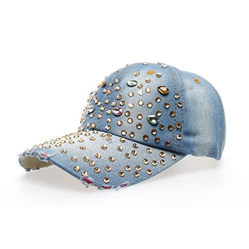 DGFB Precio De Fábrica Sombrero Sombrero Gorra Moda Ocio Rhinestones Bling Mujeres Cap Vintage Jean Hombres Sombrero Gorra B074