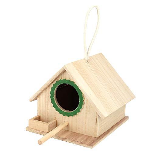 Raguso Casa de alimentación de pájaros Duradera, Nido de pájaro de Pino Colgante, estación de alimentación de pájaros, Caja de Nido de pájaro de Madera para alimentación de pájaros, Descanso(Verde)