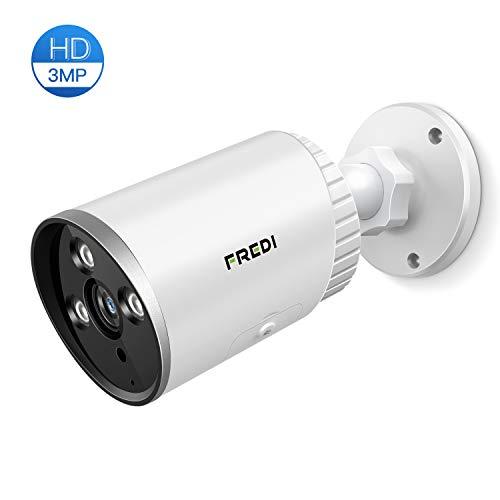 Überwachungskamera Aussen WLAN HD FREDI 3MP IP Kamera Außen IP66 Outdoor Wasserdicht Sicherheitskamera Infrarot Nachtsicht Bewegungserkennung