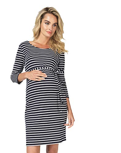 Noppies Dress Hochzeitskleid Brautkleid Kleid Paris Damen Umstandsmode Cocktailkleid/festliches Kleid (38 (M), Night Sky Stripe)