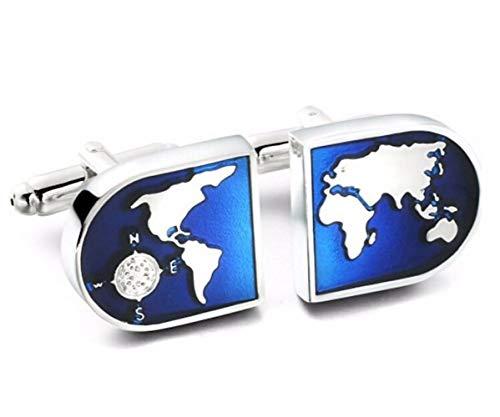Panda Loco - Gemelos de viaje, diseño de mapa global, color azul