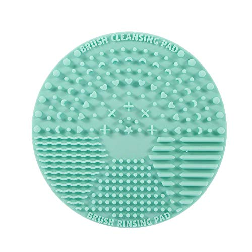 Brush Cleaning Mat Silicone Makeup Cleaning Brush Scrubber Mat Portable Washing Tool Cosmetic Brush Cleaner with Suction Cup for Valentines Day