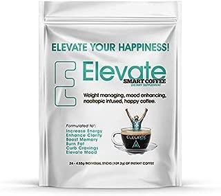 ELEVACITY Elevate Smart Coffee Individual serving stick packs- 24 servings per bag, 20 calories & 140 mg caffeine/serving, ORIGINAL FORMULA