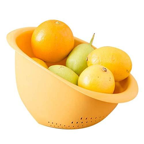 MIAOMIAOGI Duurzame Verse Groenten Strainer Mand Rijst Waszeef Keuken Voedsel Drainer Bowls Kunststof Afvoermand, D