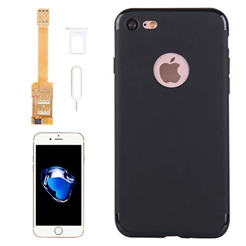 XHC Kumishi 2 in 1 Dual-SIM-Karten-Adapter + TPU-Case mit SIM-Kartenfach/SIM-Karte Pin für iPhone 7, Dual-Karte Single Standby (für iPhone 7)
