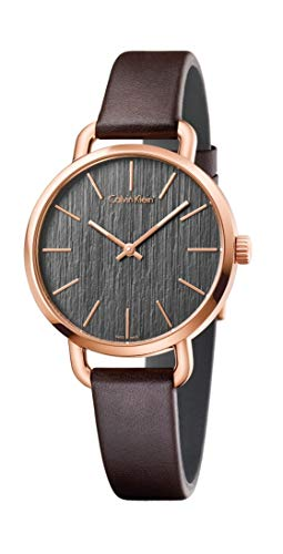 Calvin Klein K7B236G3 - Reloj analógico de Cuarzo para Mujer con Correa de Piel