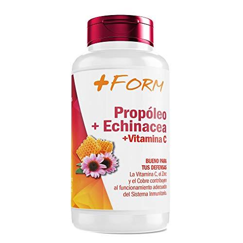 Propoleo Puro | Equinacea - Vitamina C - Vitamina E + B5 y Zinc |Refuerza Tus Defensas | Energía y Vitalidad | Complemento Alimenticio Natural | 90 Cápsulas | + FORM