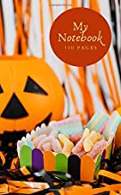 My Notebook: A 100-page (5x8 inch) lined notebook for busy people who want to get organised. Fun Halloween candy sweets co...