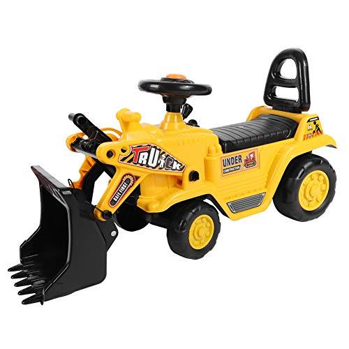 GOTOTOP Veicolo Trattore Escavatore Cavalcabile per Bambini Trattori Escavatore Senza Pedali Pala dell'Escavatore Funzione Manuale,73 * 40 * 28cm
