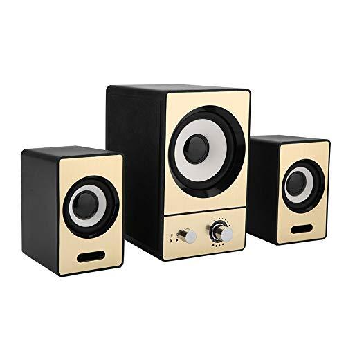 Preisvergleich Produktbild Pomya Computer-Laptop-Lautsprecher,  2.1 Stereo-Computer-Laptop-Lautsprecher Klare PC-Lautsprecher mit Subwoofern,  Kabelgebundener Lautsprecher für Mobiltelefone,  Tablets