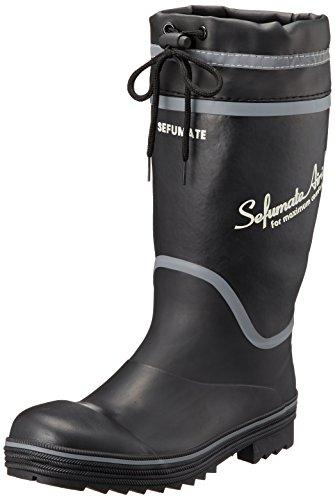 [富士手袋工業] 安全長靴 超軽量 カバー付 JIS(S) 級相当先芯 3E 3456 BLACK 24.5cm