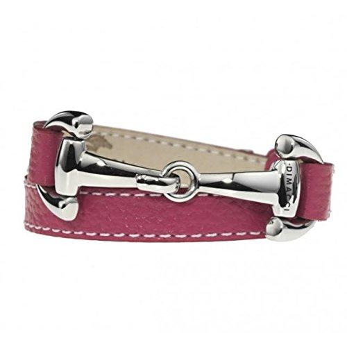 Alba - Bracelet - Fuschia - Finest Nappa Leather - Handmade - Stainless Steel Hasp Riding