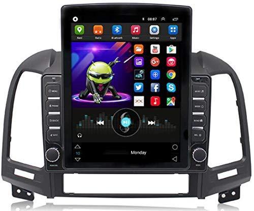 Android Coche Radio Estéreo para Hyundai Santa Fe 2006-2012 9.7 Pulgadas Unidad de Cabeza 2 DIN Pantalla táctil GPS Navegación con Bluetooth WiFi USB Am FM Mirror Link Player