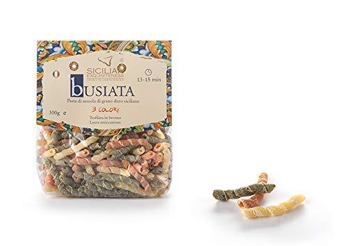 Daidone - Handgemachte sizilianische Busiata Nudeln in 3 Farben - 12 Pakete aus 300g