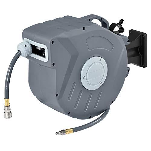 Juskys Druckluftschlauch Aufroller Pressure 20m automatisch 1/4 Zoll Schnellkupplung Schlauchaufroller Automatik Druckluft Schlauchtrommel