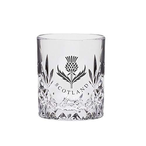Royal Scot - Bicchiere da whisky Kintyre con cristalli, con cardo scozzese, 118 ml