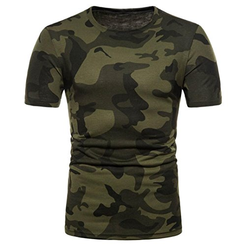 OHQ Camisa De Polo Camiseta Estampada De Manga Corta con Estampado De Camuflaje Personalizado para Hombre Camiseta De Manga Corta Casual Blusa Superior Tops Chaleco Cómodo y Elegante (M, Verde)